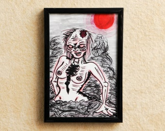 "4x6 Framed Print - ""No Fury Like an Undead Woman Scorned"""