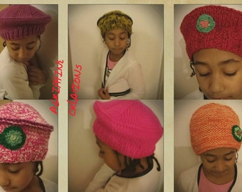 Berets and beanies children and young girls 3 to 16