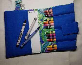 Kids mini crayon portfolio, Crayon Carrier, Coloring book carrier