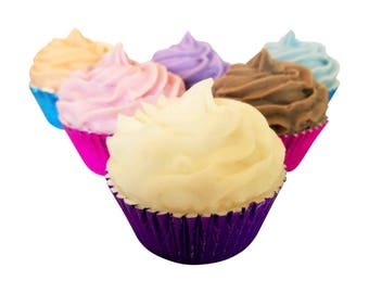 Bath Bomb Cupcake with Shea Butter Soap Icing- Bath Bomb Cupake- Gift Ideas- Gifts for her-natural bath bombs-birthday gifts for girls