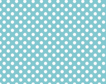 Riley Blake Designs, Small Dots in Aqua (C350 20)