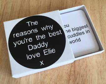 Reasons why I love you Daddy/Grandad/Dad - Fathers Day Gift