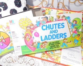 Chutes and Ladders Game, Vintage Chutes and Ladder Game, Vintage Preschooler Game, Vintage board Game, :)s*