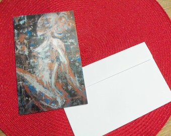 "Postcard folded AJE ""Woman II"""
