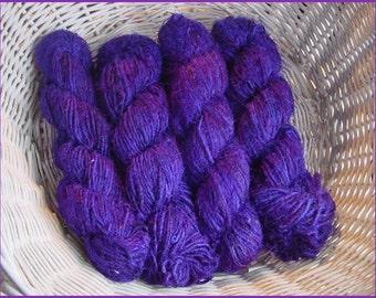 SARI SILK YARN - 3 x 100 gram skeins Purple -
