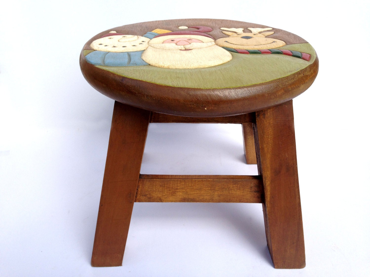 Hand Painted Wooden Stool