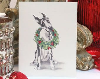 Boxed Great Dane Holiday Cards