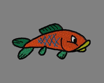 Sooo Cute, Orange Fish, or Any Color Digitized Embroidery Design