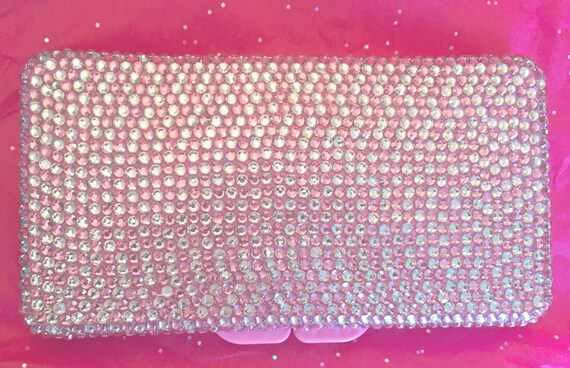 Rhinestone Baby Wipe Case in Pink and Clear