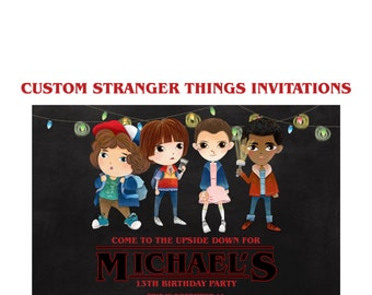 Mike stranger things print stranger things netflix 80s art stranger things invitation custom stranger things netflix party 5x7 shower invites sci stopboris Choice Image