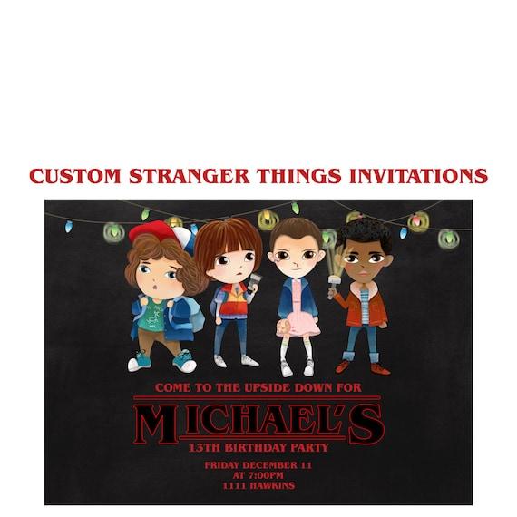 Stranger things invitation custom stranger things netflix stopboris Choice Image