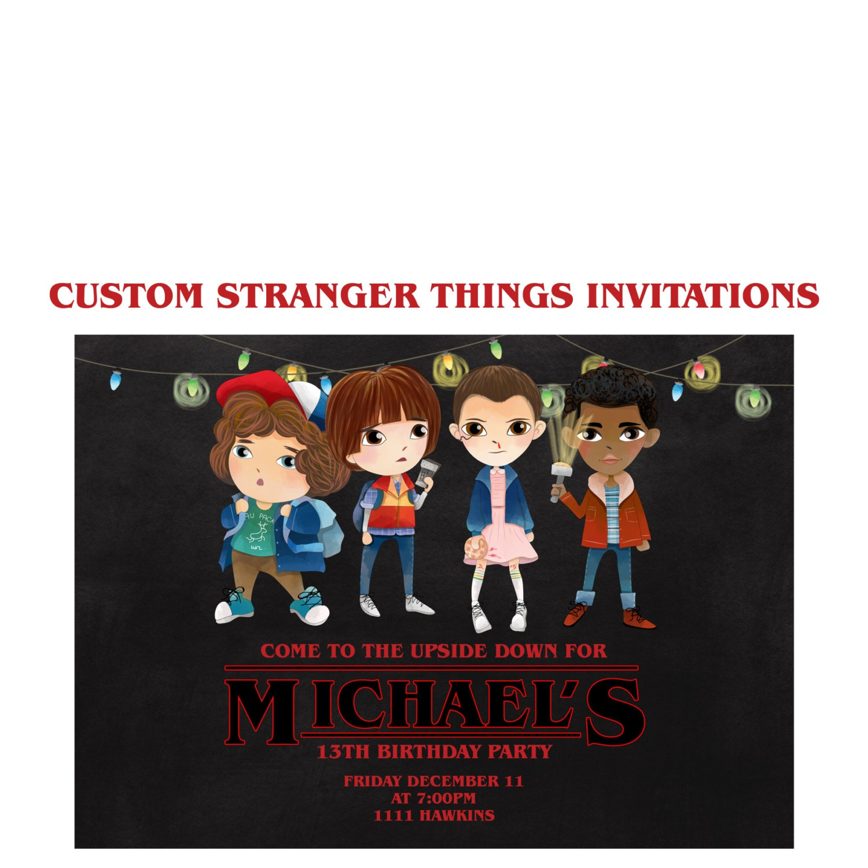 Stranger Things Invitation Custom Stranger things Netflix