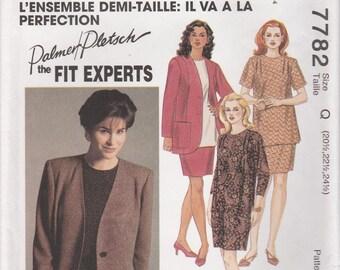 Unlined Jacket Pattern Dress Tunic Skirt Womens Plus Size 20.5 - 22.5 - 24.5 Uncut McCalls 7782 Perfect Fit