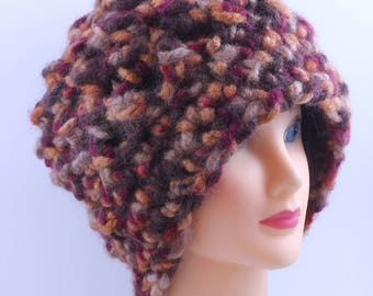 Chunky Beanie in Fall Colors, Oversized, Unisex, Slouchy Beanie