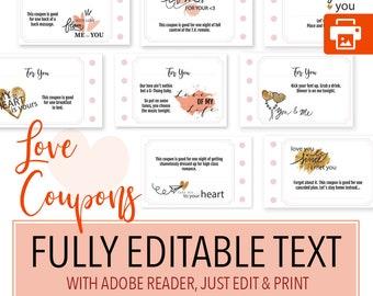 Coupon, Naughty Coupons,Love Coupons, Love Coupon, Love Coupon Book, Printable Coupons, Husband Coupons, Valentines Gift, PRINTABLE PDF