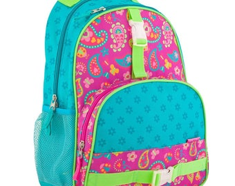 Girls Paisley, Owl, Butterfly or Princess Backpack for School