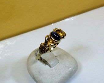 Old ring 333 gold Topaz vintage bla noble GR222