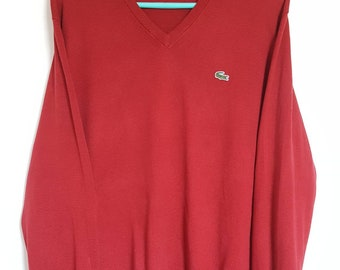 100% cotton Vintage vintage Lacoste sweater 90-00 Made in France size 4 (M) like new.