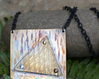 Prismatic Brass Pendant