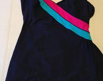 Women's Vintage Longitude Bathing Suit Size 14T