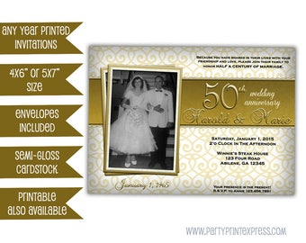 Printable vow renewal invitation 50th anniversary invitation golden 50th wedding anniversary party invitations photo 50th wedding invitation 50th wedding party ideas stopboris Images