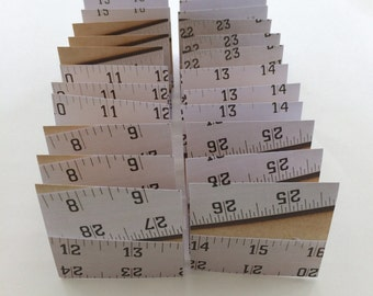 Mini Cards 24 Ruler - blank for thank you notes 3 x 3