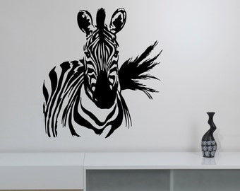 Zebra Wall Sticker Vinyl Decal African Horse Wild Animal Art Decorations for Home Housewares Living Room Bedroom Safari Wildlife Decor zb8