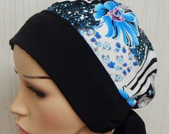 Chemotherapy hair loss head wear, chemo bandanna, cancer head scarf, women's chemo cap, alopecia hair scarf, short hair wrap, surgical caps