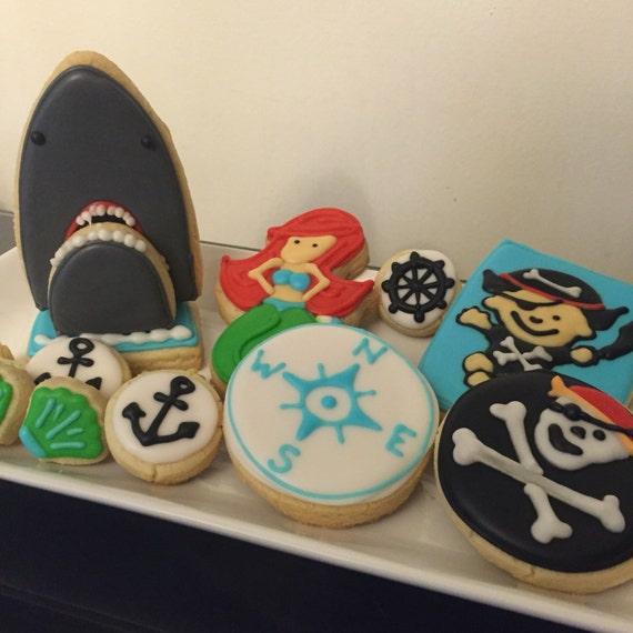 Pirate/Sea cookies