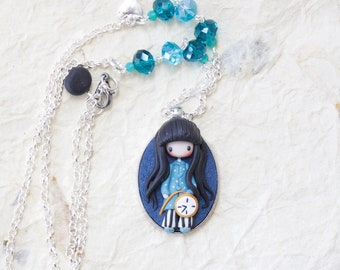 polymer clay necklace /gorjuss collection/ fimo / clay / polymerclay