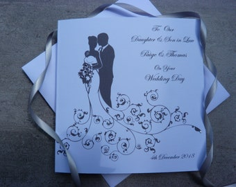 Personalised Handmade Wedding Card Any Recipient