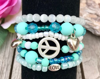Set of 6 Summer Bracelets