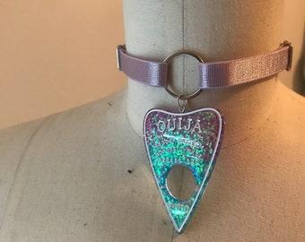 Pastel Glitter Planchette Nicco Choker, Ready to Ship, Handmade Accessories