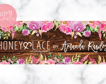 Social Media Banner | FB Banner | Rustic Banner | Honey  | Digital File Honey and Lace Facebook Cover| Digital File