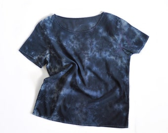 Black Basalt Hand Dyed Cotton Blouse