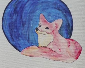Fox Small Canvas Print