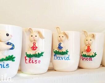 Unique mugs, ă hand decorated