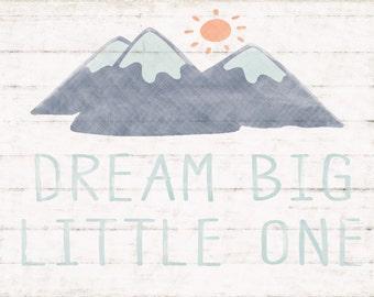 Dream Big Nursery Wall Art