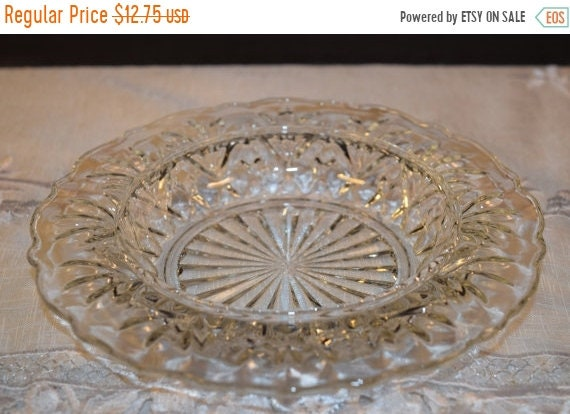 Delayed Shipping Anchor Hocking Butter Dish Vintage Clear Glass Pineapple Pattern Bowl Pressed Glass Cheese Tray Heavy Ashtray Tobacciana Co