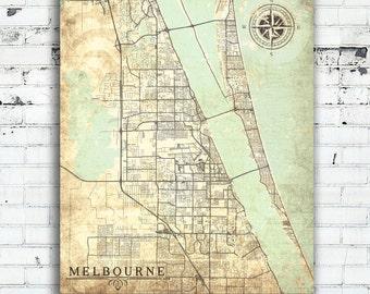 Fl Etsy - Vintage maps melbourne