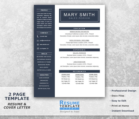 one page resume templates