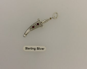 Sterling Silver Dagger Charm
