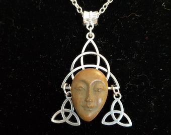 Celtic triqueta goddess pendant