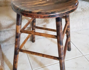 Vintage Wood Sitting Stool