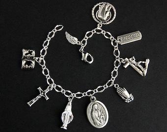 Saint Dorothy Bracelet. Catholic Bracelet. St Dorothy Charm Bracelet. Catholic Jewelry. Religious Jewelry. Handmade Jewelry.