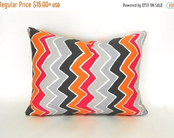 SALE 16x12 SeeSaw ZigZag Lumbar Decorative Pillow Cover  by Premier Prints