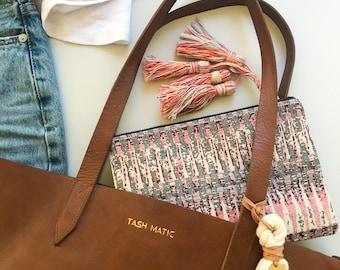 Boho Clutch #4 | Boho Zippered pouch, Clutch, Purse, Everyday purse, Zip pouch, Tassel pouch, Travel zip pouch, Small purse, Aztec Clutch