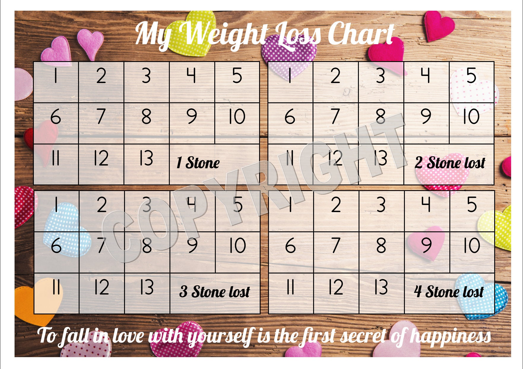 Weight loss chart tracker 4 stone comes with star description weight loss chart tracker nvjuhfo Image collections