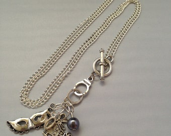 Fifty Shades of Grey Necklace 50 Shades Christian Grey Gray Frontal Clasp