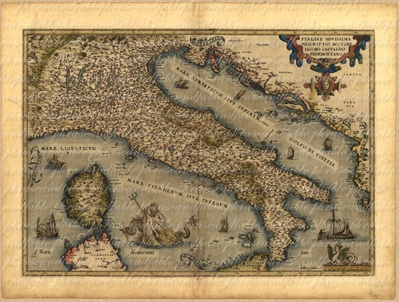 Map of italy from 1500s ancient old world cartography gumiabroncs Choice Image